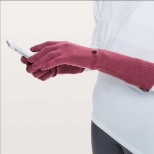 lululemon scroll on knit gloves Xs/S
